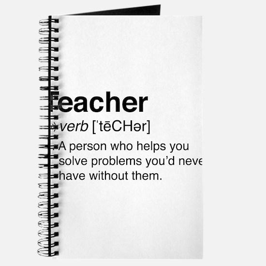 Teacher Definition Journal