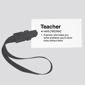 Teacher Definition Luggage Tag