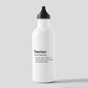 Teacher Definition Water Bottle