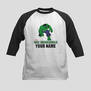 The Incredible Hulk Personali Kids Baseball Jersey