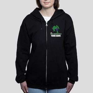 The Incredible Hulk Personalize Women's Zip Hoodie