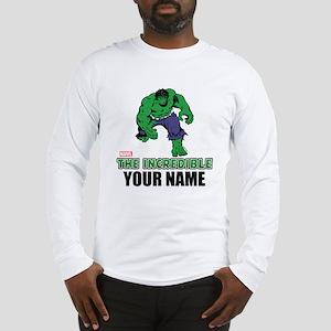 The Incredible Hulk Personaliz Long Sleeve T-Shirt