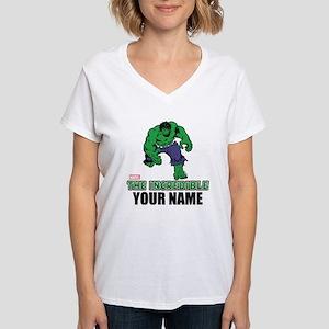 The Incredible Hulk Persona Women's V-Neck T-Shirt