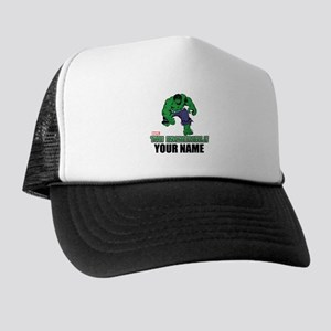 The Incredible Hulk Personalized Desig Trucker Hat