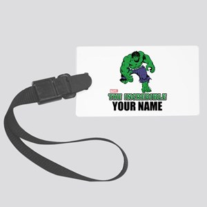 The Incredible Hulk Personalized Large Luggage Tag