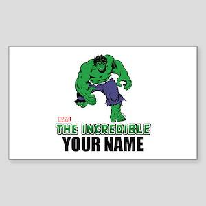 The Incredible Hulk Personaliz Sticker (Rectangle)