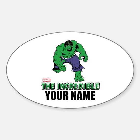 The Incredible Hulk Personalized De Sticker (Oval)