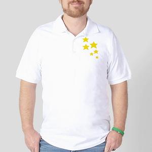 Yellow Stars Golf Shirt