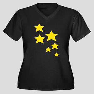 Yellow Stars Plus Size T-Shirt