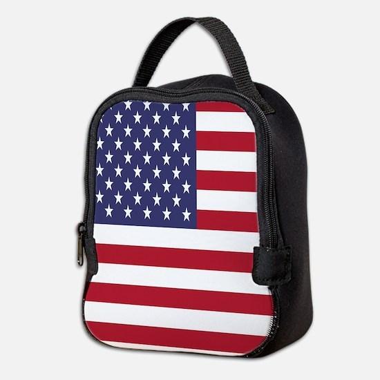 United States Of America Flag Neoprene Lunch Bag