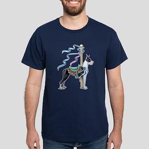 Great Dane Mantle Carousel Dark T-Shirt