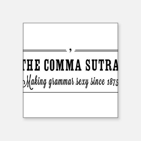 The comma sutra Sticker