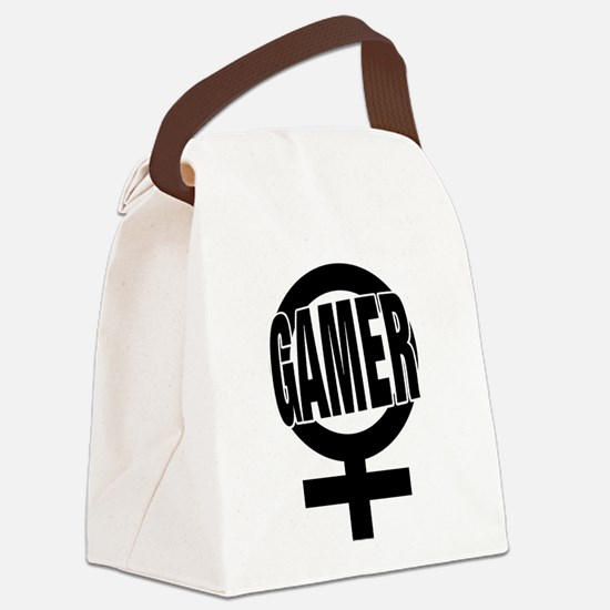 Unique Gamer girl Canvas Lunch Bag