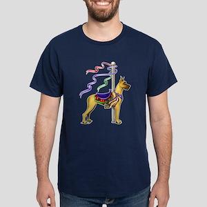 Great Dane Fawn Carousel Dark T-Shirt