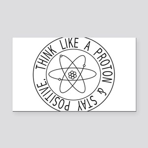 Proton stay positive Rectangle Car Magnet