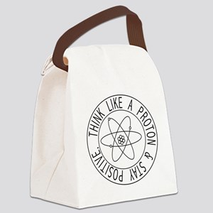 Proton stay positive Canvas Lunch Bag