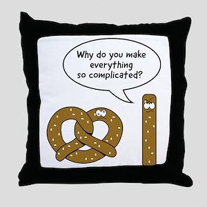 Pretzels complicated Throw Pillow