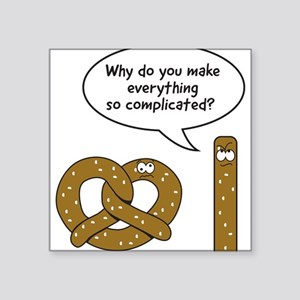 Pretzels complicated Sticker