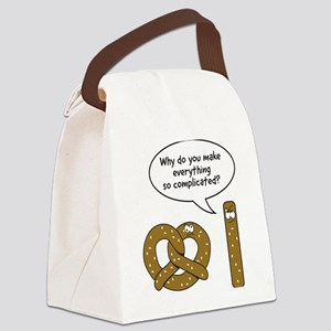 Pretzels complicated Canvas Lunch Bag