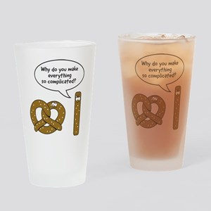 Pretzels complicated Drinking Glass