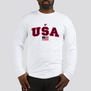 USA Flag Long Sleeve T-Shirt