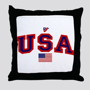 USA Flag Throw Pillow