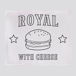 Royal with cheese Throw Blanket