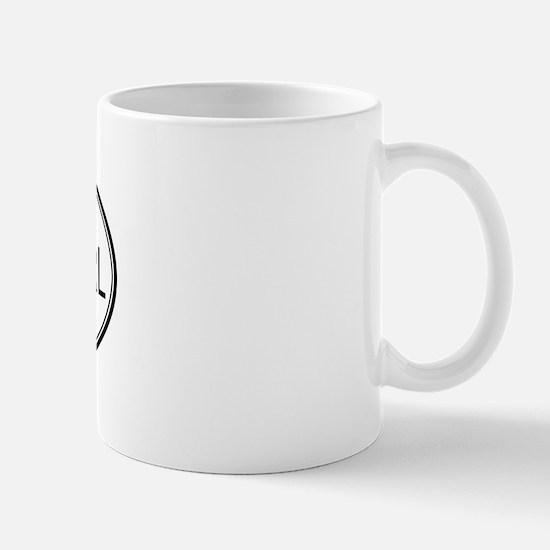CHEESE CURL (oval) Mug