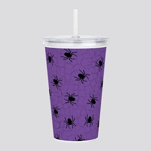 Purple Spider Pattern Acrylic Double-wall Tumbler