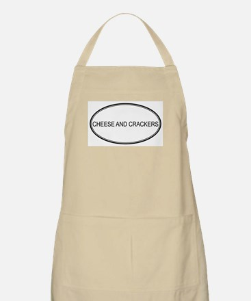 CHEESE AND CRACKERS (oval) BBQ Apron