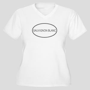 SAUVIGNON BLANC (oval) Women's Plus Size V-Neck T-