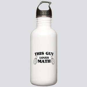 This guy loves math Water Bottle