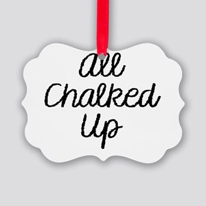All Chalked Up Picture Ornament