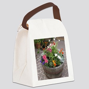 Courtyard Color Canvas Lunch Bag