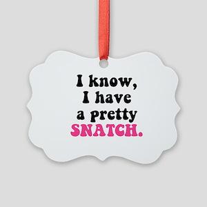 Pretty Snatch Picture Ornament