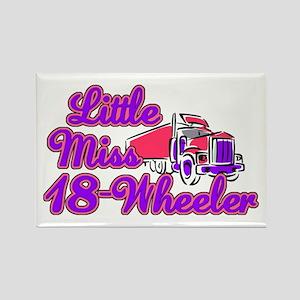 Little Miss 18-Wheeler Rectangle Magnet