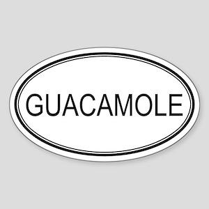 GUACAMOLE (oval) Oval Sticker