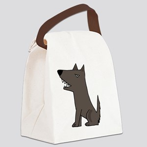 Funky Dog Canvas Lunch Bag