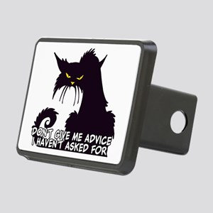 Don't Give Me Advice Angry Rectangular Hitch Cover