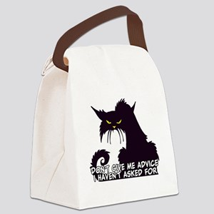 Don't Give Me Advice Angry Cat Sa Canvas Lunch Bag