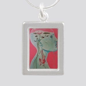 Neotony Silver Portrait Necklace