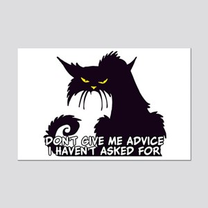 Don't Give Me Advice Angry Cat S Mini Poster Print