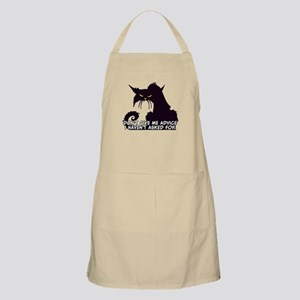 Don't Give Me Advice Angry Cat Saying Apron