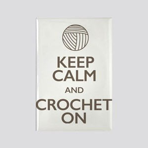 Keep Calm and Crochet On Rectangle Magnet