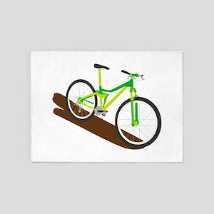 Green Mountain Bike 5'x7'Area Rug