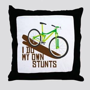 I Do My Own Stunts Throw Pillow