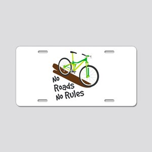 No Roads No Rules Aluminum License Plate