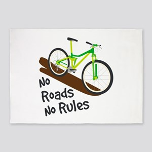No Roads No Rules 5'x7'Area Rug