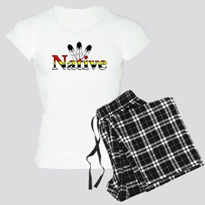 Native text with Eagle Feathers Pajamas