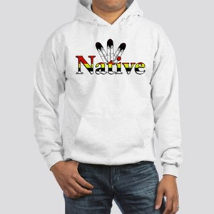 Native text with Eagle Feathers Hoodie